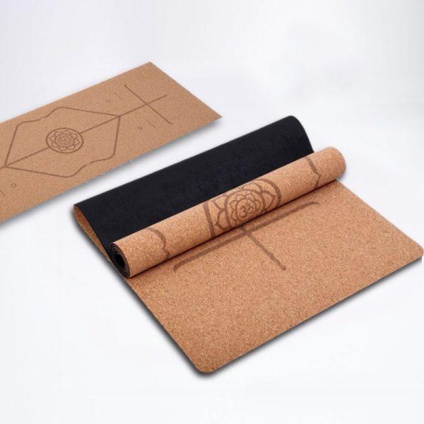 Sunbear Sport cork yoga mat, nonslip lightweight exercise mat, Linen rubber yoga mat manufacturer in China, yoga mat wholesale & dropshipping