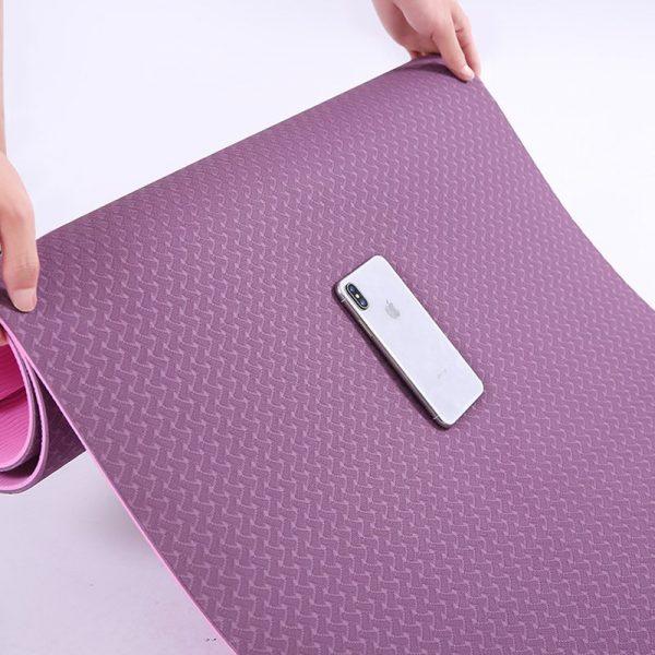 Sunbear Sport Double layer TPE yoga mat, durable exercise mat, Linen rubber yoga mat manufacturer in China, yoga mat wholesale & dropshipping