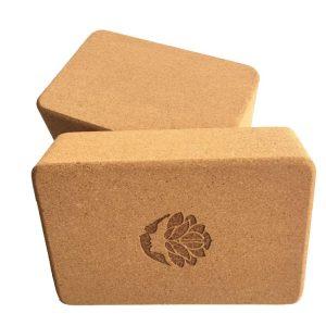 Natural cork yoga brick