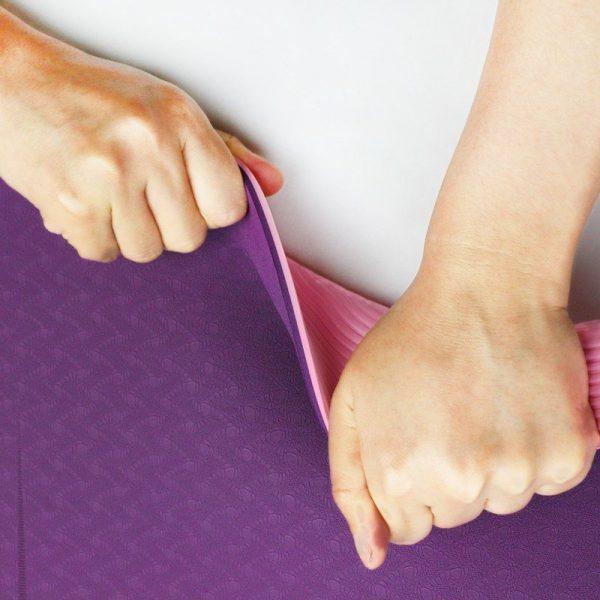 Sunbear Sport Double layer TPE yoga mat, Linen rubber yoga mat manufacturer in China, yoga mat wholesale & dropshipping