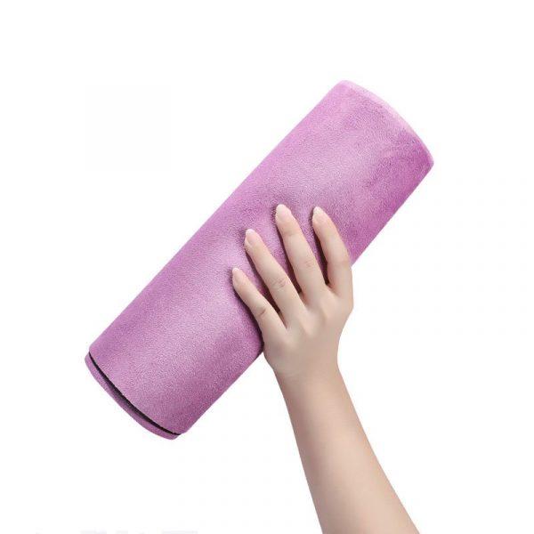 Folding travel exercise mat