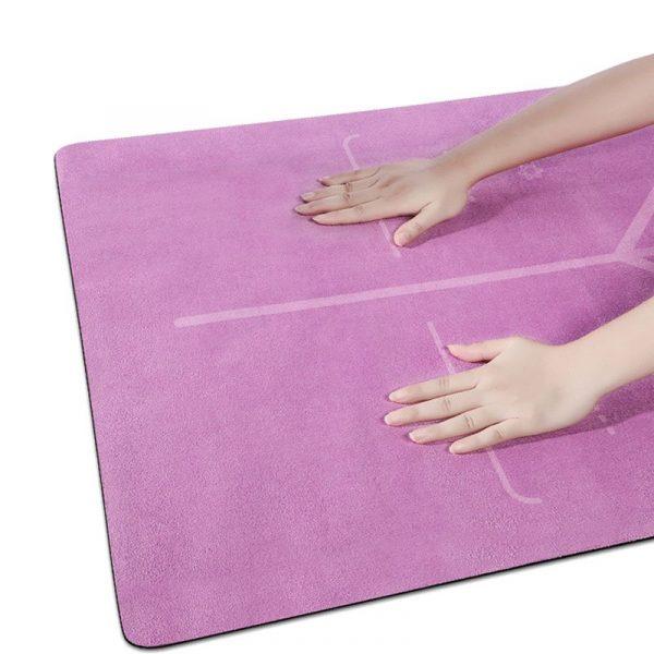 microfiber suede rubber yoga mat