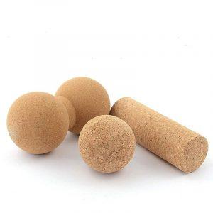 cork yoga accessories, cork ball, cork foam roller