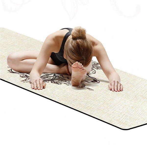 linen hemp yoga mat manufacturer in China, wholesale & dropshipping