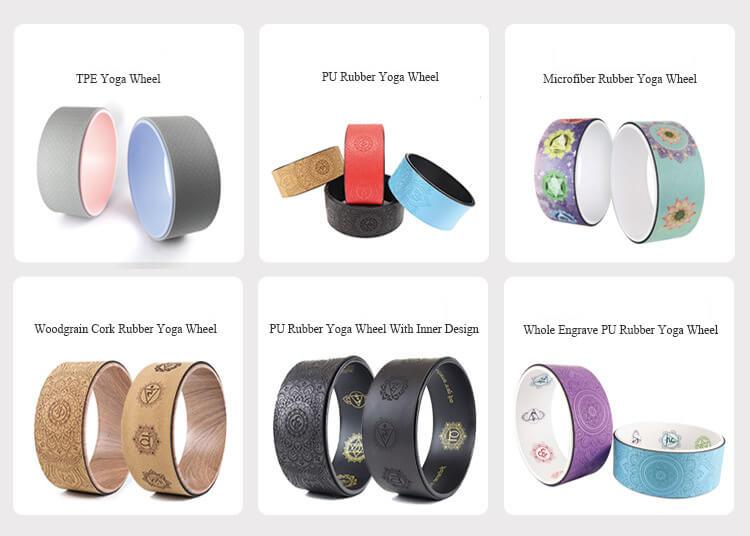 PU Rubber Yoga Wheel, Cork Rubber Wheel by Sunbear Sports
